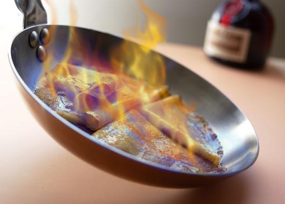 Ricetta in francese delle crepes suzette